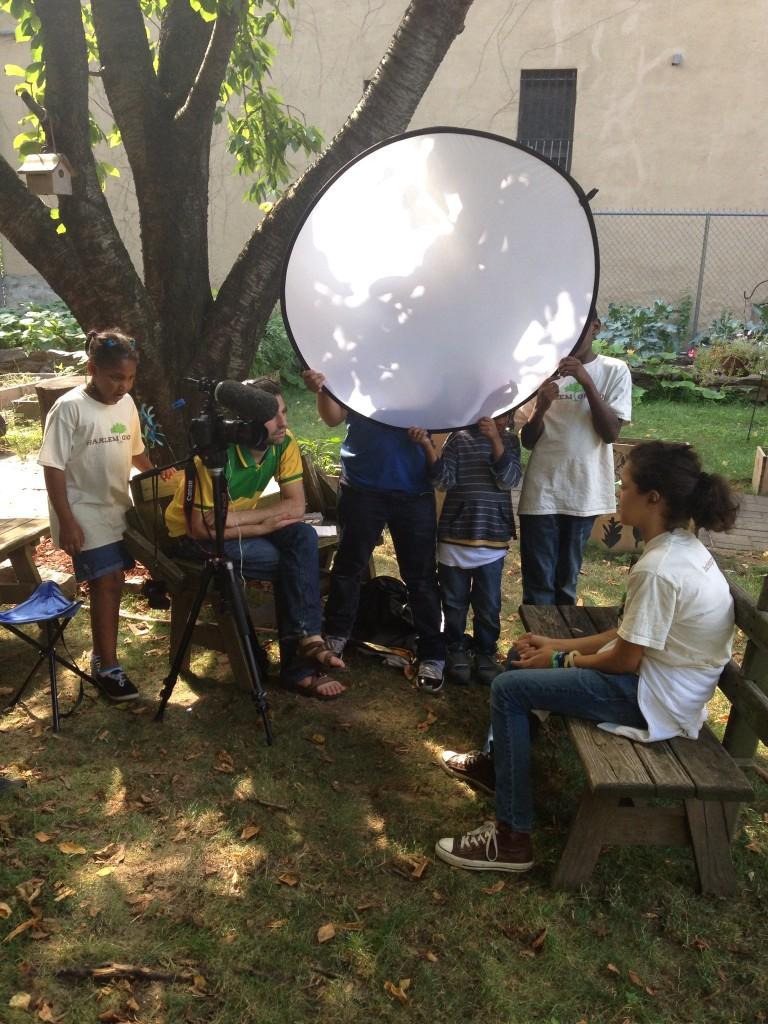 kids helping PA at Harlem Grown